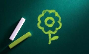 Crewcare flower chalkboard