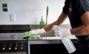 Crewcare cleaning in a kitchen
