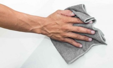 Gray microfibre cloth