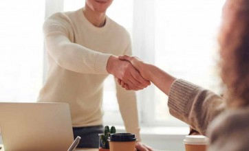 Office handshake health and hygiene
