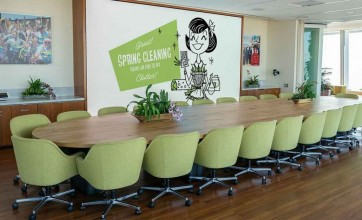 Office boardroom with message