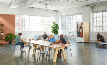 Open office setting can make a space brighter