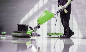 Keeping floors in commercial areas clean
